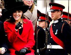 Catherine humourously making William crack a smile