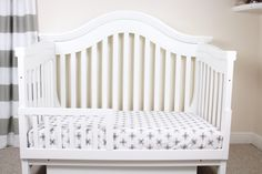 Monochrome Crosses Crib Sheet // Black and White Bedding // Monochrome Crib Sheets // Modern Crib Sheets // Monochrome Nursery Bedding