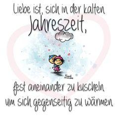 ❤️ #Liebe ist,sich in der kalten #Jahreszeit , fest aneinander zu #kuscheln um…