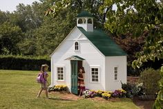 Lilliput Play Homes designs and builds the world's best children's residential and commercial luxury playhouses. Outside Playhouse, Playhouse Kits, Playhouse Outdoor, Wooden Playhouse, Outdoor Play, Casa Wendy, Wendy House, Luxury Playhouses, House Beds For Kids