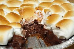 S'mores Pie Recipe #recipe #pie