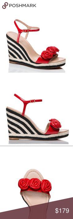 590a9a08d8e Kate Spade Jill Espadrille Platform Wedge Sandals New In Box - Stunning  Kate Spade Jill Maraschino Patent Leather Espadrille Platform Wedge Sandal  With Open ...