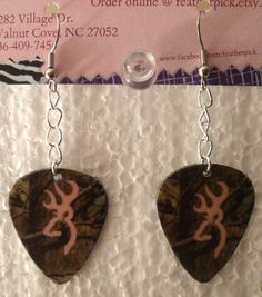 Mossy Oak Camo with light pink browning deer symbol by featherpick, $6.00