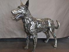 Metal Animal Art Garden Sculpture Horse, Dog, Bird, Dragon ...