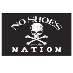 Kenny Chesney No Shoes Nation BLACK Flag