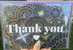 Mandala Thank you card. Thank you. Unique card. by KhelaDesigns
