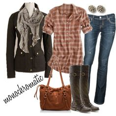 Without the jacket and scarf...perfect, relaxed outfit!