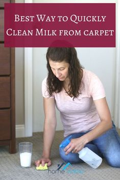 How to clean and remove milk stains out of your carpet, including tips for how to get rid of old stains, and removing the awful sour smell. #homeviable #milkstains #carpetstains #stainremoval #clean Cleaning Diy, Kitchen Cleaning, House Cleaning Tips, Deep Cleaning, All Natural Cleaning Products, Diy Cleaning Products, Cleaning Solutions, Best Cleaner, Pet Hair Removal
