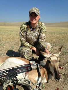 It's All Things Bowhunting at Prois! Check out Prois Staffer Kim Blaskowski and her archery antelope! #proiswasthere #prois #bowhunting