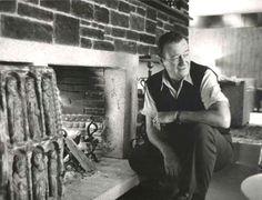 John Wayne at home