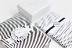 Kara Schiffer is Queensland based paper crafter Lulu Lucky. She designed this sophisticated monochrome look using our Klassisk Wrapping Paper.