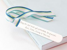 Perfect for bookworms, a gift for a teacher or a companion for your favourite book, our Personalised Bookmark features a sleek sterling silver finish and a colourful ribbon of your choice.    P...