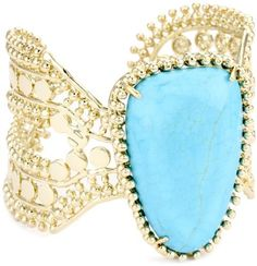 "Kendra Scott ""Candy Jewels"" 14k Gold-Plated Turquoise-Color Adjustable Abena Cuff Bracelet Kendra Scott, http://www.amazon.com/dp/B005QHS6NA/ref=cm_sw_r_pi_dp_rGfSqb10FA1V2"