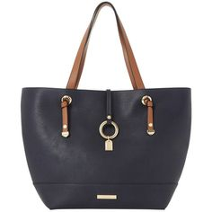 Dune Dollies Colourblock Shopper Bag, Blue (£55) ❤ liked on Polyvore featuring bags, handbags, tote bags, color block tote, shopping tote, shopping bag, blue tote and blue purse