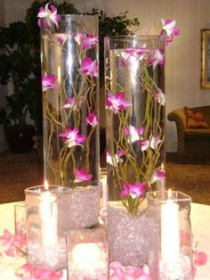 Wedding Table Centerpieces   Photo Gallery - Pink Place Card Table Centerpieces Photo