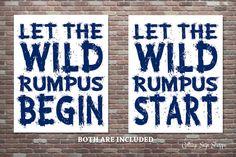 Let The Wild Rumpus Start Let The Wild Rumpus by CottageArtShoppe