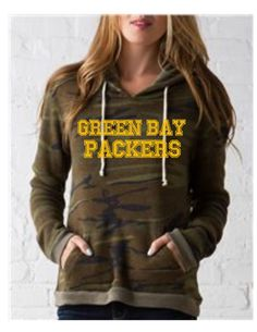 b1e2efcbb796c3 Camoflauge Green Bay Packer Women's sweatshirt by FransClosetRX Fleece  Hoodie, Camo Sweatshirt, Pullover,