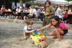 Biergärten mit Spielplätzen in München