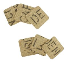 Burlap Coasters - Click through for project instructions.