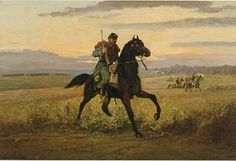 """Edwin Forbes painting """"Union Rider"""""""