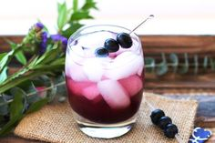 My Apple Cider Vinegar, Blueberry And Ginger Shrub is made with wild blueberries, fresh grated ginger, honey and raw apple cider vinegar.