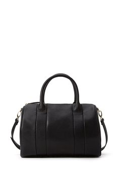 So I was just thinking about how I've fallen in love with the Alexander Wang Rockie bag and will never own it because it is so expensive and then I find this. Which is basically the Forever 21 knockoff version. And like $600 cheaper. Studded Faux Leather Barrel Bag | FOREVER21 - 1000063429