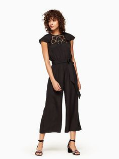 67becc757c06 Kate Spade Girl · an update to the little black dress: the LBD Lace  embroidered jumpsuit #shopstyle#