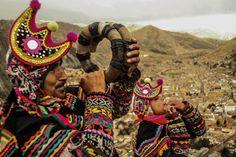 Los Wacra puco, corneteros de Huancavelica, Perú.