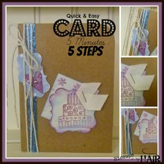 Make a quick, CUTE 5 minute card with these 5 steps...examples included!