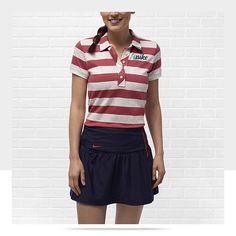 Cute Golf Outfit... Nike Sport Stripe Graphic Women's Golf Polo