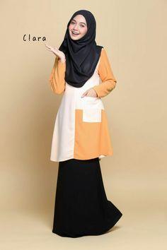 Blouse Clara  Code: WB004E   Diperbuat dari material moss crepe yang berkualiti.   Sejuk lembut dan sangat selesa digayakan.   Mesra ibu menyusu dan mesra wudhu. RM65.00  PERCUMA Penghantaran via Pos Laju ke seluruh Malaysia.