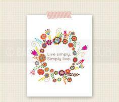 Floral - CUSTOMIZE - Art Print- Home Decor- Gift- Custom Wall Print Poster. $15.00, via Etsy.