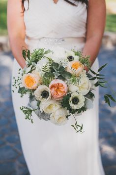 A beautiful rustic bouquet: http://www.stylemepretty.com/2014/12/17/rustic-elegance-malibu-wedding/ | Photography: Heidi Ryder - http://heidiryder.net/