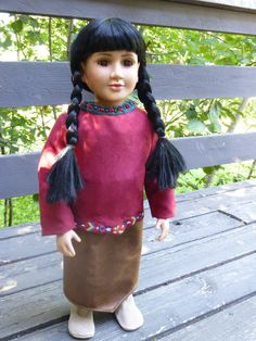 This is a Native American outfit/ dressed doll, and I'll have to upload three different photos to show the 'layers' of clothing.
