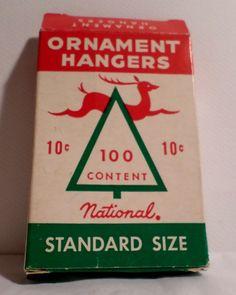 Vintage Christmas, National Tinsel Christmas, Reindeer, Tinsel, Christmas Ornament, Ornament Hanger box, Ornament Hanger, Vintage Christmas by DeliciasCastle on Etsy