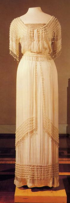 A gown belonging to one of the grand duchesses made by Mme. Brisac, 1910s.