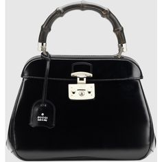 Gucci lady lock leather top handle bag (23.180 ARS) ❤ liked on Polyvore