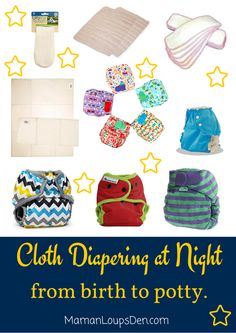 http://www.kidstoysonlineshopping.com/category/overnight-diapers/ Cloth Diapering at Night from Birth to Potty ~ Maman Loup's Den