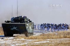 Chinese Marines on Winter Exercises - From SNAFU!