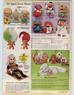 I soooo loved Troll Dolls. Childhood Games, Childhood Memories, Toy Catalogs, Puppet Toys, Troll Dolls, Beatnik, Retro Toys, Antique Toys, Old Toys