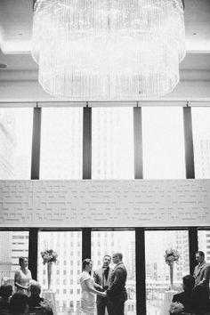 Classic wedding at the Langham Chicago's Devonshire Ballroom. Photo via Style Me Pretty.