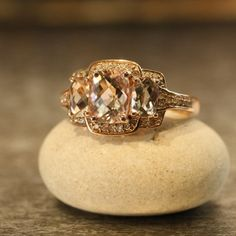 Hey, I found this really awesome Etsy listing at https://www.etsy.com/listing/172800437/cushion-morganite-engagement-ring-14k