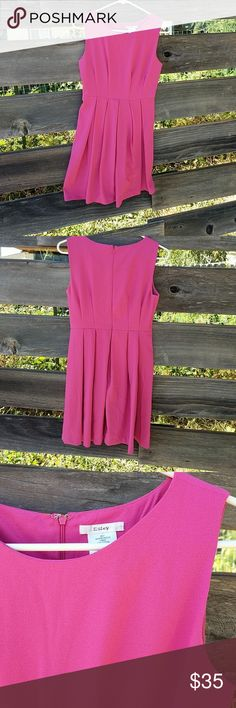 Esley Pink Dress GUC Pink dress from Esley with pleats. Pockets! Esley Dresses