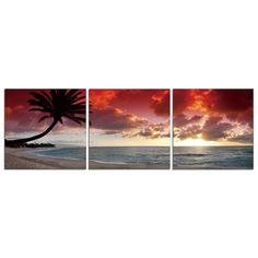 Oahu Palms by Elementem $104 Rendered in three frames, this photograph is mounted onto durable wood panels.