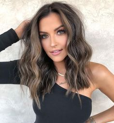 Medium Hair Cuts, Medium Hair Styles, Long Hair Styles, Hair Cuts Thick Hair, Best Hair Cuts, Medium Thick Hair, Short Brunette Hairstyles, Short Haircuts Shoulder Length, Haircut For Medium Length Hair