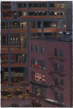 Yvonne Jacquette, Old and New Construction I, 2008  Pastel on paper  29 7/8 x 20 1/4 inches