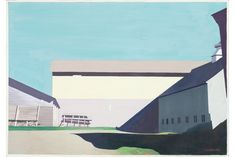 Charles Sheeler, Buildings at Lebanon, 1949, tempera, graphite on pressed board faced with sized paper. Collection Walker Art Center.