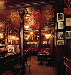 Harry's Bar, Paris ~ It was supposedly the birthplace of the Bloody Mary in 1921 and favourite spot of FS Fitzgerald and Ernest Hemingway. Ahh...youth.