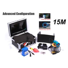 15m Professional Fish Finder Underwater Fishing Video Camera Monitor 7 Inch 15m Cable 1000TVL Night Vision Fishing Finder