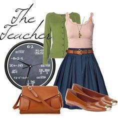 """""""Career Fashion- The Teacher"""" by skybluchik89 ..."""
